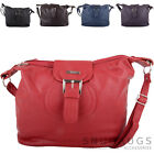 Ladies / Womens Faux Leather Shoulder / Hand Bag with Multiple Pockets