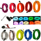 Neon LED Strip Light Glow EL Wire Rope Tape Tube Dance Party Lights + Controller