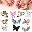 10pcs/Set 3D Gorgeous Alloy Butterfly Nail Art Glitter Decoration Glitter Top