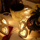 Romantic Love Heart Lights Wooden Party Decor Wedding Valentine's Day Decal US
