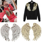 Clothes Wings Design Sequins Motif Applique Embroidered Iron On Patches Stick LA