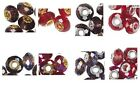TWO Celestial Crystal 32-Facet Rondelle European Charm Beads RED OR PURPLE