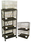 YML Six Small Bird Cage with 2 Feeder Doors