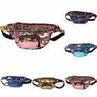 Reversible Sequin Bum Bag Pink/Purple/Gold/Blue Glitter Festival Holiday Fanny P