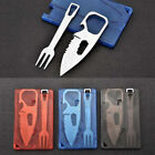 Multi-function Pocket Card Knife Fork EDC Survival Outdoors Camping Tools Newly