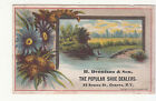 H Dennison & Son  Shoe Dealers Geneva New york Flowers Vict Card c 1880s