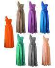 One Shoulder Formal Long Dress Bridesmaid Wedding Party Evening Gown  2 - 22