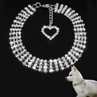 Bling Rhinestone Dog Collars Puppy Necklace with Heart Charm Small Dogs Goodish