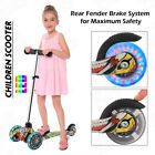 Kids Scooter Deluxe for Age 3-17 Adjustable Kick Scooter w/ LED Wheel Girls Boys