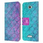 HEAD CASE DESIGNS MERMAID SCALES LEATHER BOOK WALLET CASE FOR SONY PHONES 2