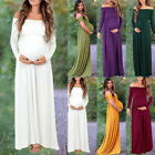 Maternity Off Shoulder Long Maxi Dress Pregnant Gown Props Clothes Photography