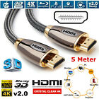 Premium HDMI 4K Cable v2.0 High Speed 3D Video Lead Ultra HD 2160P 1m Upto 15m