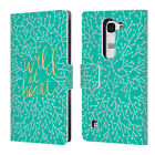 OFFICIAL CAT COQUILLETTE QUOTES TYPOGRAPHY 3 LEATHER BOOK CASE FOR LG PHONES 2