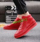 High Tops Boat Shoes Men Leather Lace Up Flat Casual High Hop Ankle Boots Shoes