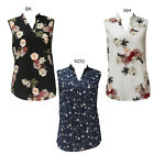 Dearlove Women's Sleeveless Print Blouse Shirt Tunic Top Floral print Blouse