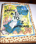 Estat=K Cloth Jungle A to Z Jamboree Colorful bright Book filled with Animals