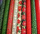 CHRISTMAS - TRADITIONAL GOLD METALLIC XMAS DESIGNS - QUILTING COTTON FABRIC