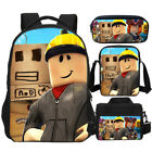Roblox Boys Student Backpack Insulated Lunch Box Pencil Case