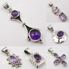 925 Pure Silver Wonderful PURPLE AMETHYST Pendant Fashion Jewelry COLLECTION