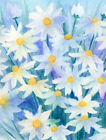 Caroline's Treasures Light and Airy Daisies 2-Sided Garden F