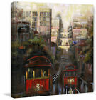 Marmont Hill 'Up and Down San Francisco' Painting Print on Wrapped Canvas