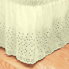 Sweet Home Collection Embroidered Floral Eyelet Polyester Dust Ruffle Bed Skirt image