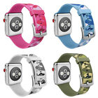 Camouflage Silicone Sport Watch Band Straps For Apple Watch Series 3/2/1 38/42m