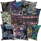 Ah2 Cotton Cushion Cover*Black Abstract Throw Oblong Pillow Case*Custom Size