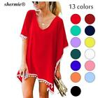 ladies chiffon beach cover up dress