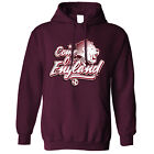 Football Unisex Hoodie Come On England 2018 Soccer Russia Distressed Goal 1966