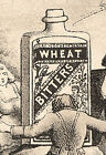 WHEAT BITTERS TRADE CARD, ADULTS PLAYING RING AROUND THE GIANT BOTTLE   K344