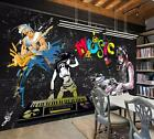 3D Graffiti Band 026 Wall Paper Exclusive MXY Wallpaper Mural Decal Indoor AJ