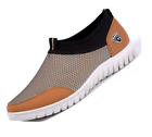 Men's Casual Shoes Sneakers Breathable Loafers Athletic Running BEIGE