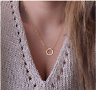 Women's Moon Star Pendant Necklace Gold Silver Long Chain Jewelry Simple Style