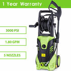 Heacy Duty 3000 PSI Cleaner High Power Water Electric Pressure Washer 1.8 GPM