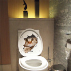Cat Sticker Wall Bathroom Decal Home Bedroom Decor Kitchen Toilet Mural Vinyl 3d