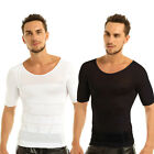 Men's Slimming Tummy T-shirt Belly Waist Girdle Top Lose Weigh Shirt Shapewear
