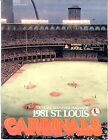 1981 St.Louis Cradinals Official Souvenir Magazine.#57964*11
