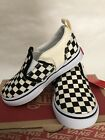 Vans Asher V Canvas Toddler Shoes Checkers Black/Natural Bei