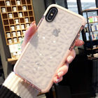 For iPhone X XR XS Max Cover Case TPU Drop Protective Geometric Clear