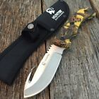 "9"" Camo HUNTING SURVIVAL FIXED BLADE Tactical Knife Full Tang GUT HOOK YC -F"