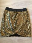 Ruver usland gold/black sequin wrap skirt not worn size 8 STUNNING