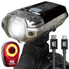 BLITZU Gator 390 USB Rechargeable LED Bike Light Set Bicycle Headlight Front
