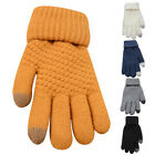 Women Lady Magic Warm Winter Touch Screen Stretch Knitted Wool Mittens Gloves