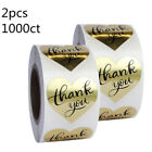 500/1000 Handmade Heart Shape Thank You Craft Stickers Labels Wedding Favours US