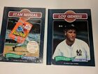 STAN MUSIAL & LOU GEHRIG BASEBALL LEGENDS CHELSEA HOUSE PUBLISHING DONRUSS CARDS
