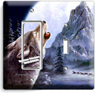 WILD GRAY WOLF HOWLING AT MOON LIGHT SWITCH OUTLET WALL PLATES COVER ROOM DECOR