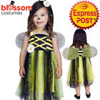 CK1301 Bee My Baby Bumble Bee Honey Toddler Girls Fancy Dress Costume + Wings