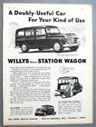Original 1953 Willys Station Wago Ad DOUBLY USEFUL CAR FOR YOUR KIND OF USE