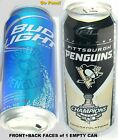 2009 PITTSBURGH PENGUIN STANLEY CUP CHAMP NHL ICE HOCKEY BUD LITE SPORT BEER CAN